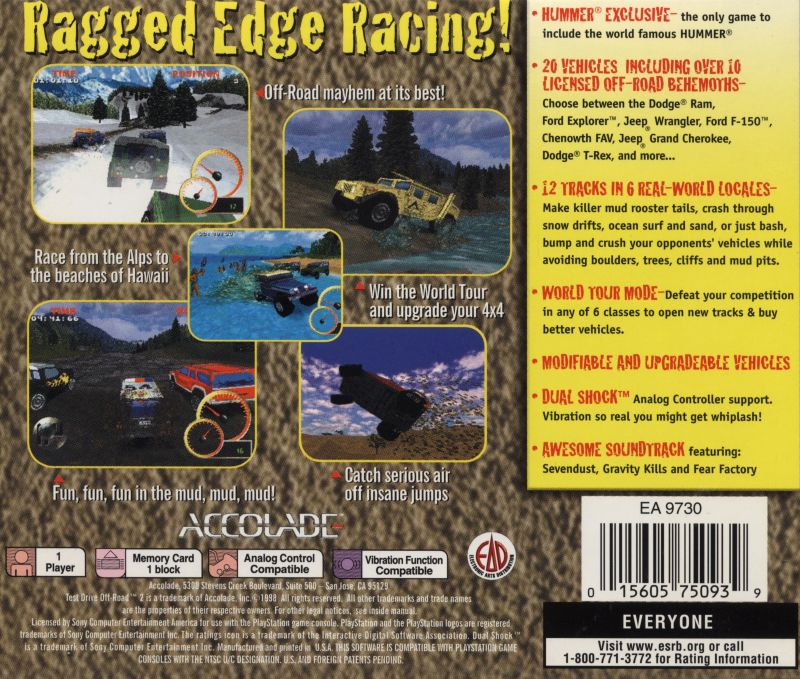 Test Drive: Off-Road 2 (1998) PlayStation box cover art - MobyGames