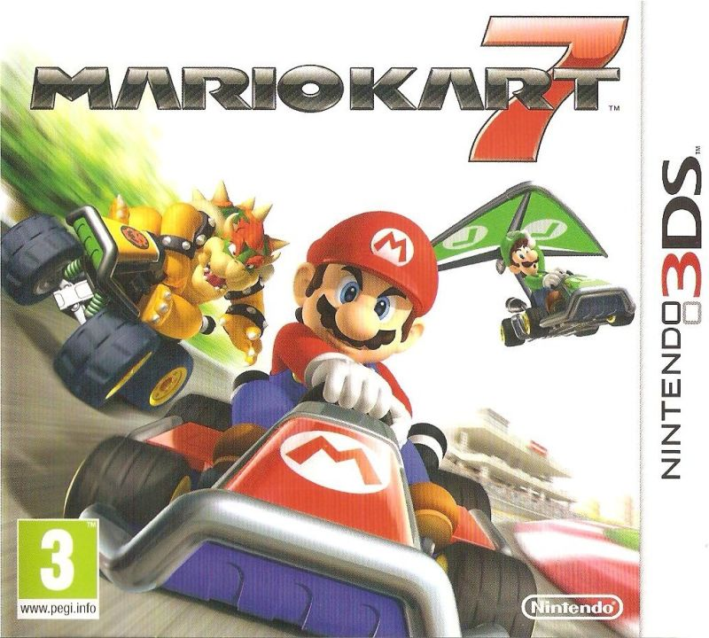 Mario Kart 7 Nintendo 3DS Front Cover