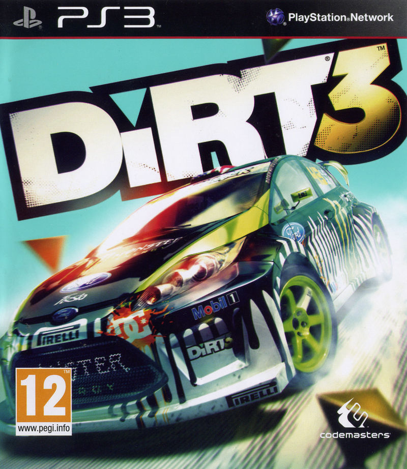 DiRT 3 PlayStation 3 Front Cover