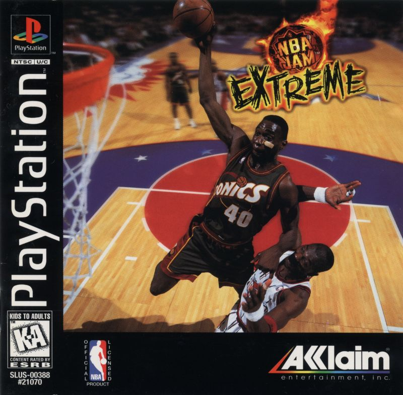 NBA Jam Extreme PlayStation Front Cover