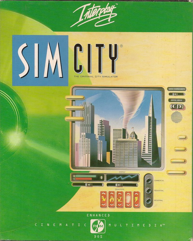 SimCity: Enhanced CD-ROM DOS Front Cover