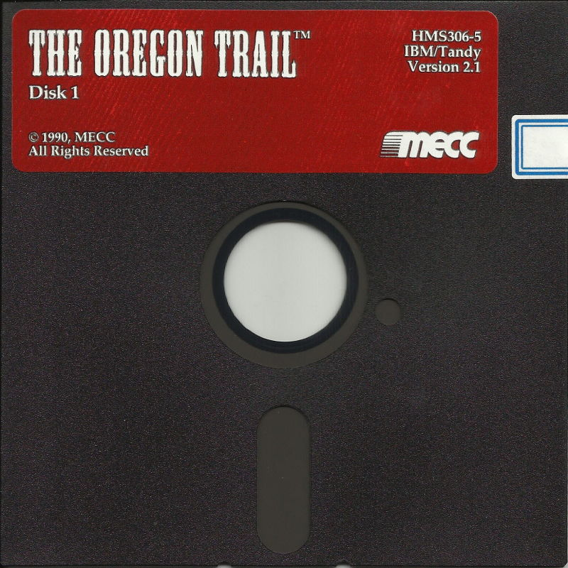 "The Oregon Trail DOS Media 5.25"" Disk (1/2)"
