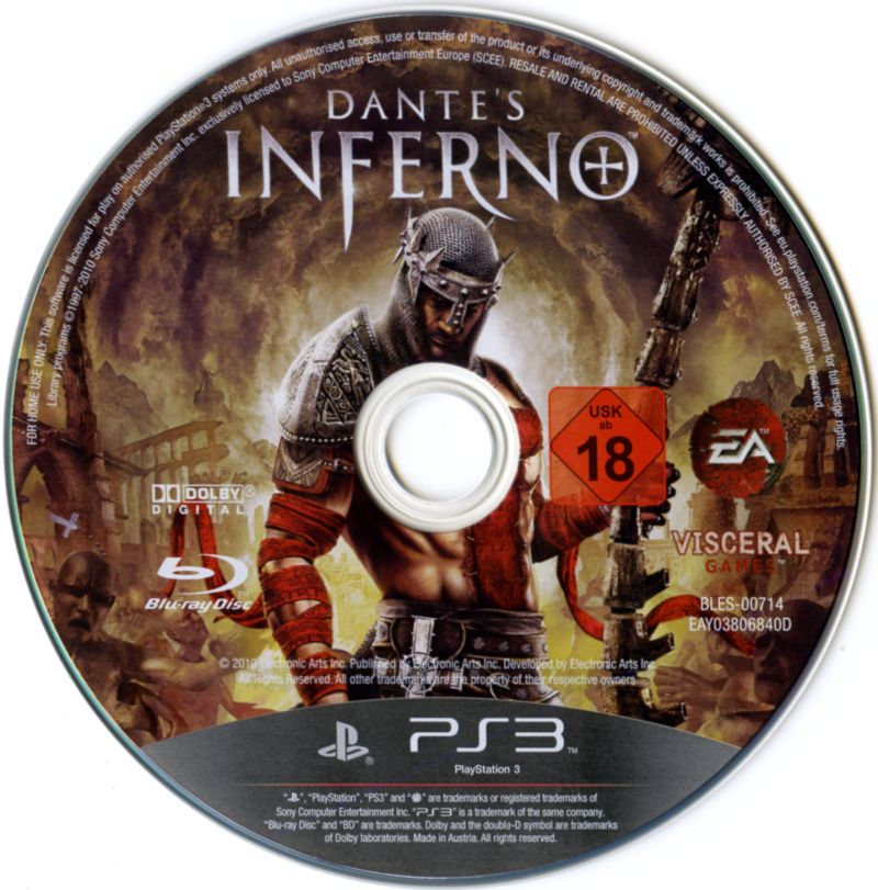 Dante's Inferno PlayStation 3 Media