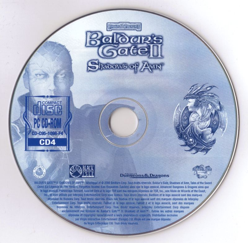 Baldur's Gate II: Shadows of Amn Windows Media Disc 4-4