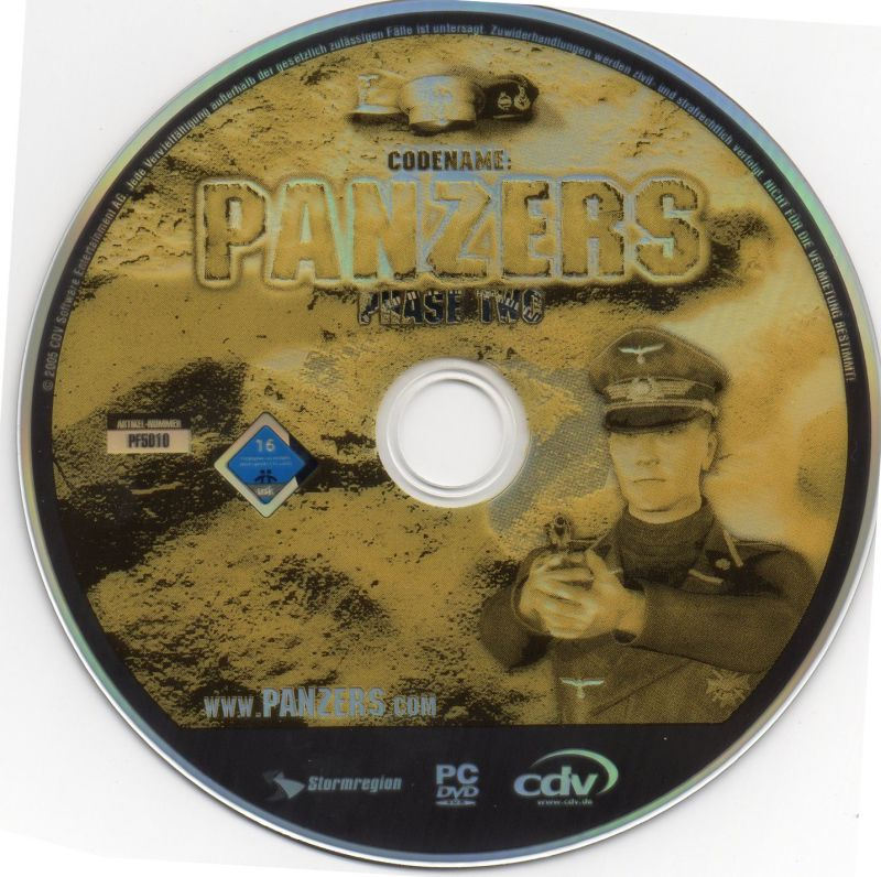 Codename: Panzers - Platinum: Phase One + Phase Two Windows Media Codename Panzers Phase Two Disc