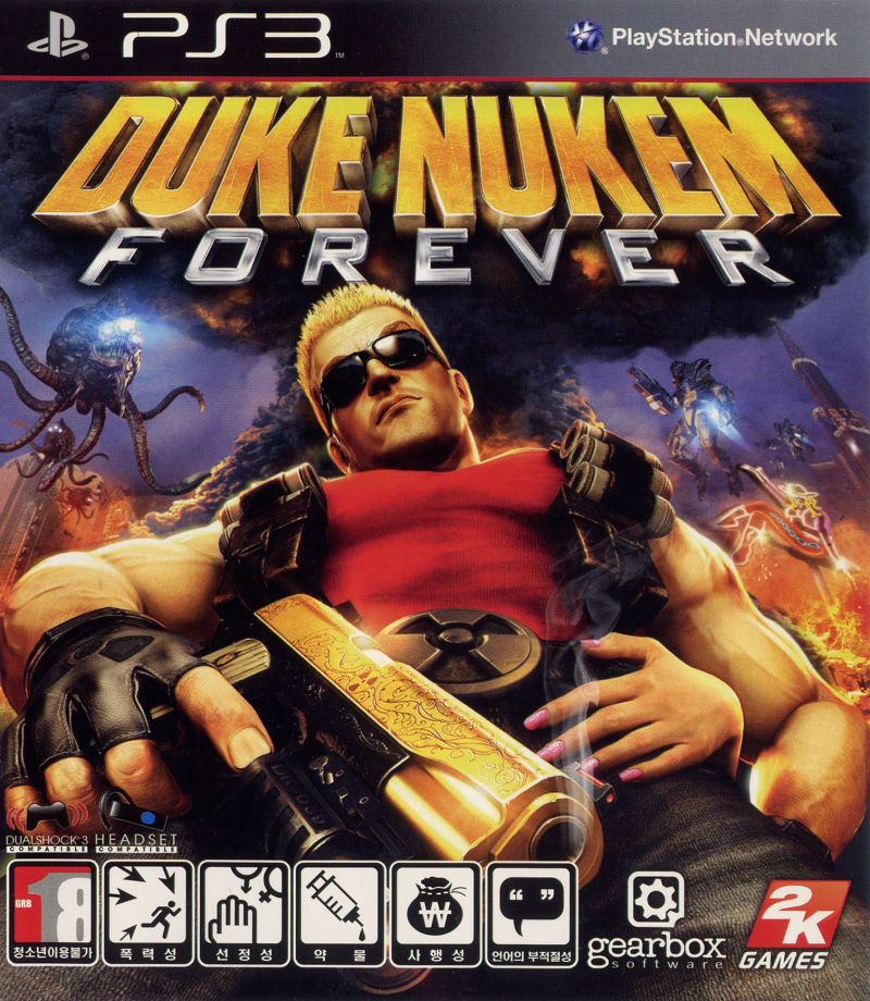 Duke Nukem: Forever PlayStation 3 Front Cover