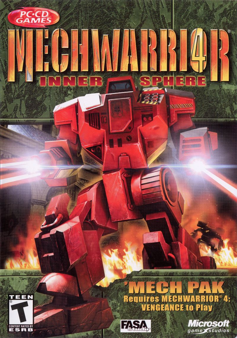 MechWarrior 4: Inner Sphere 'Mech Pak Windows Front Cover