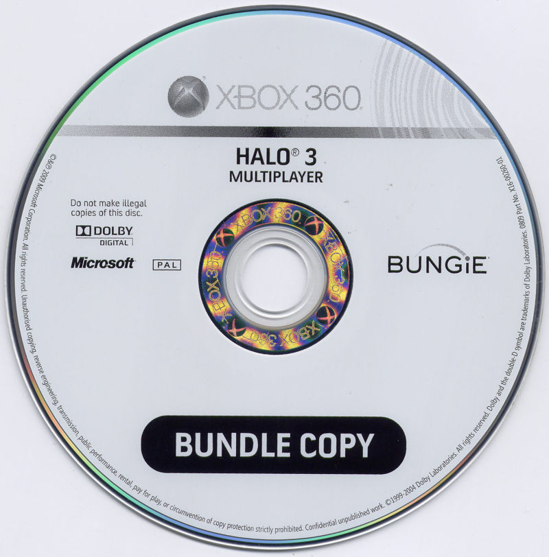 Halo 3: ODST Xbox 360 Media Multiplayer disc
