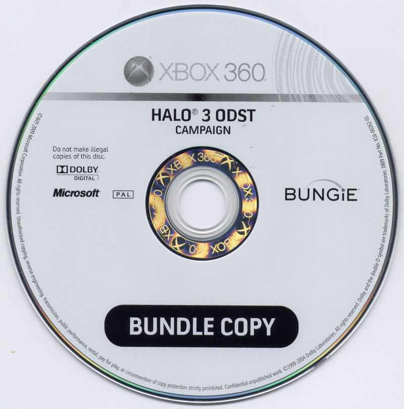 Halo 3: ODST Xbox 360 Media Campaign disc