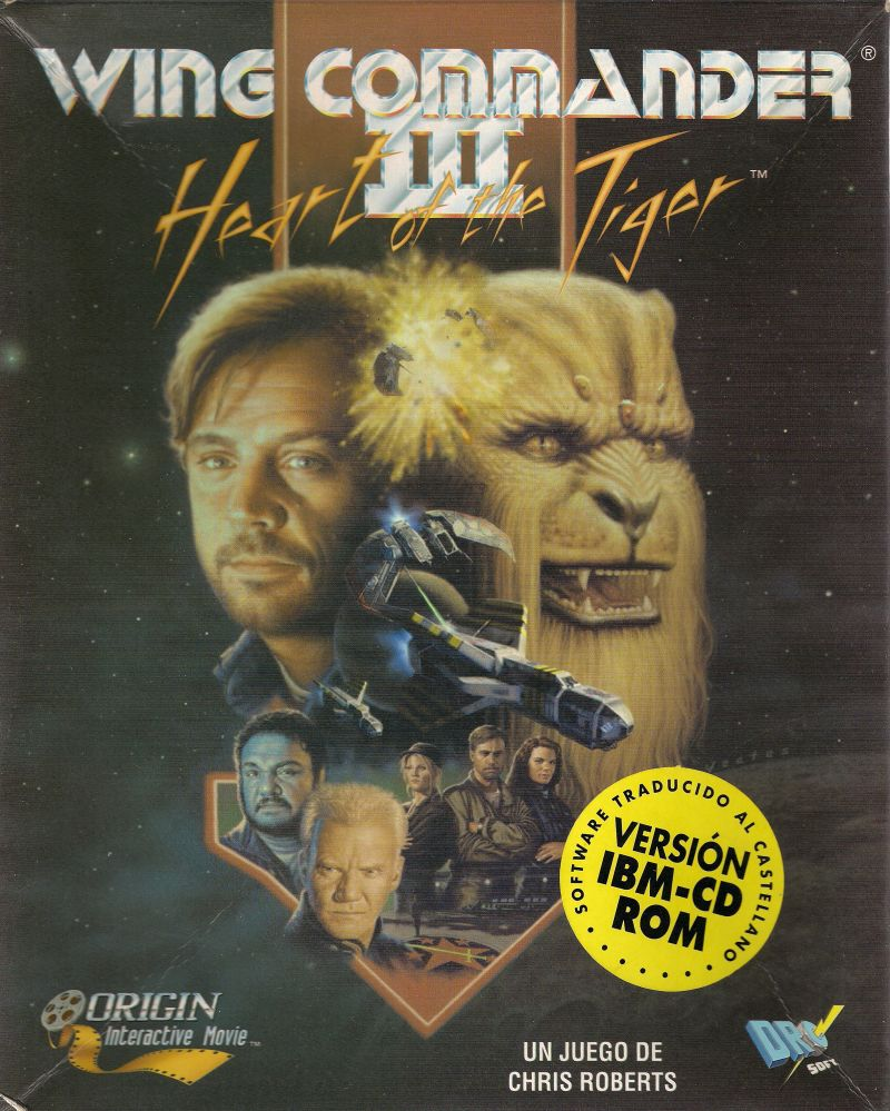 Wing Commander Iii Heart Of The Tiger 1994 Dos Box Cover Art