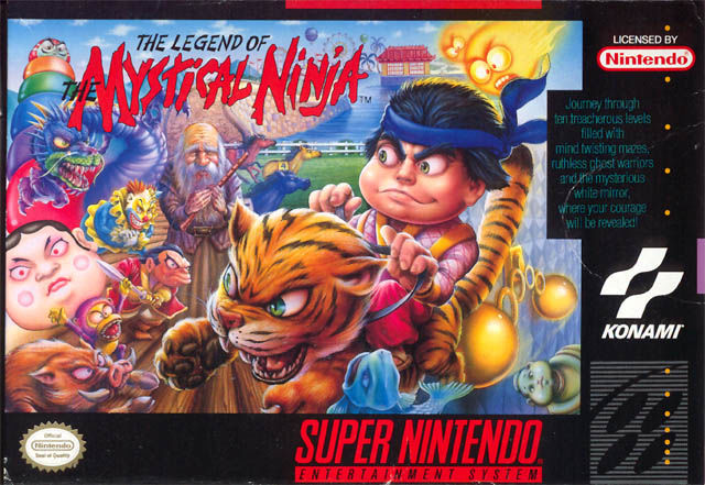 The Legend of the Mystical Ninja SNES Front Cover slight visible damage on right side