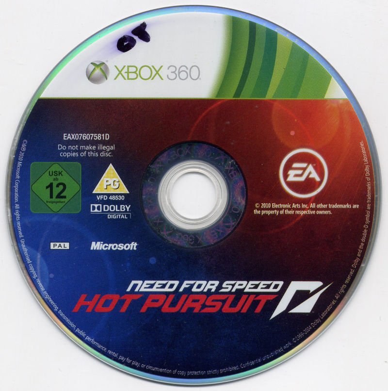 Need For Speed Hot Pursuit 2010 Xbox 360 Box Cover Art Mobygames