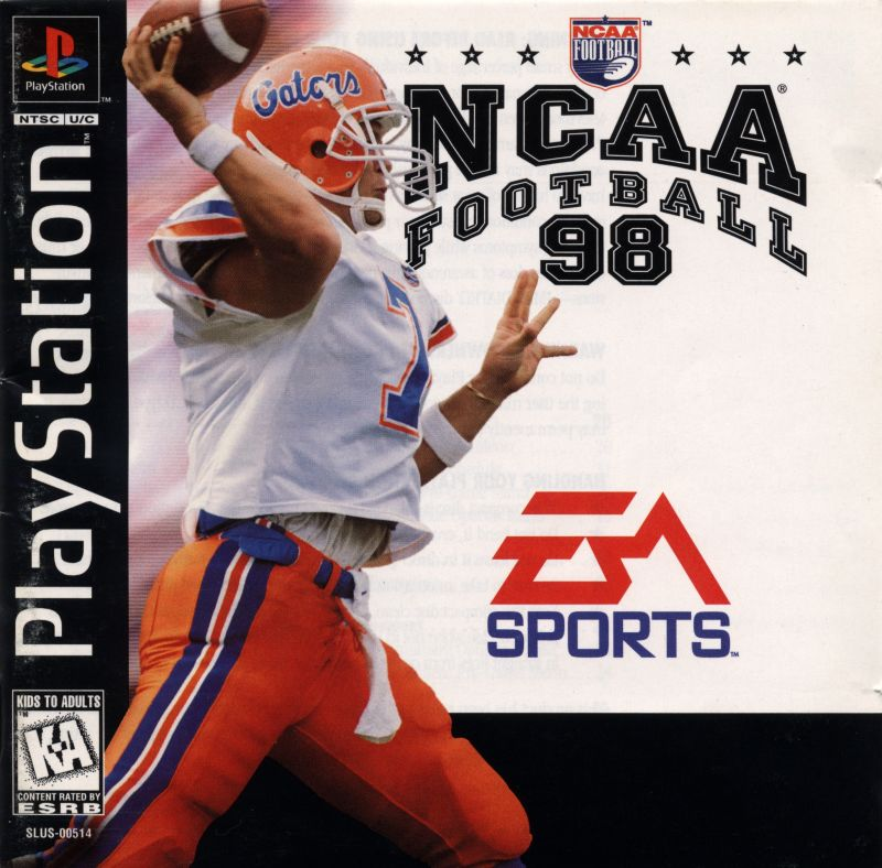 NCAA Football 98 PlayStation Front Cover