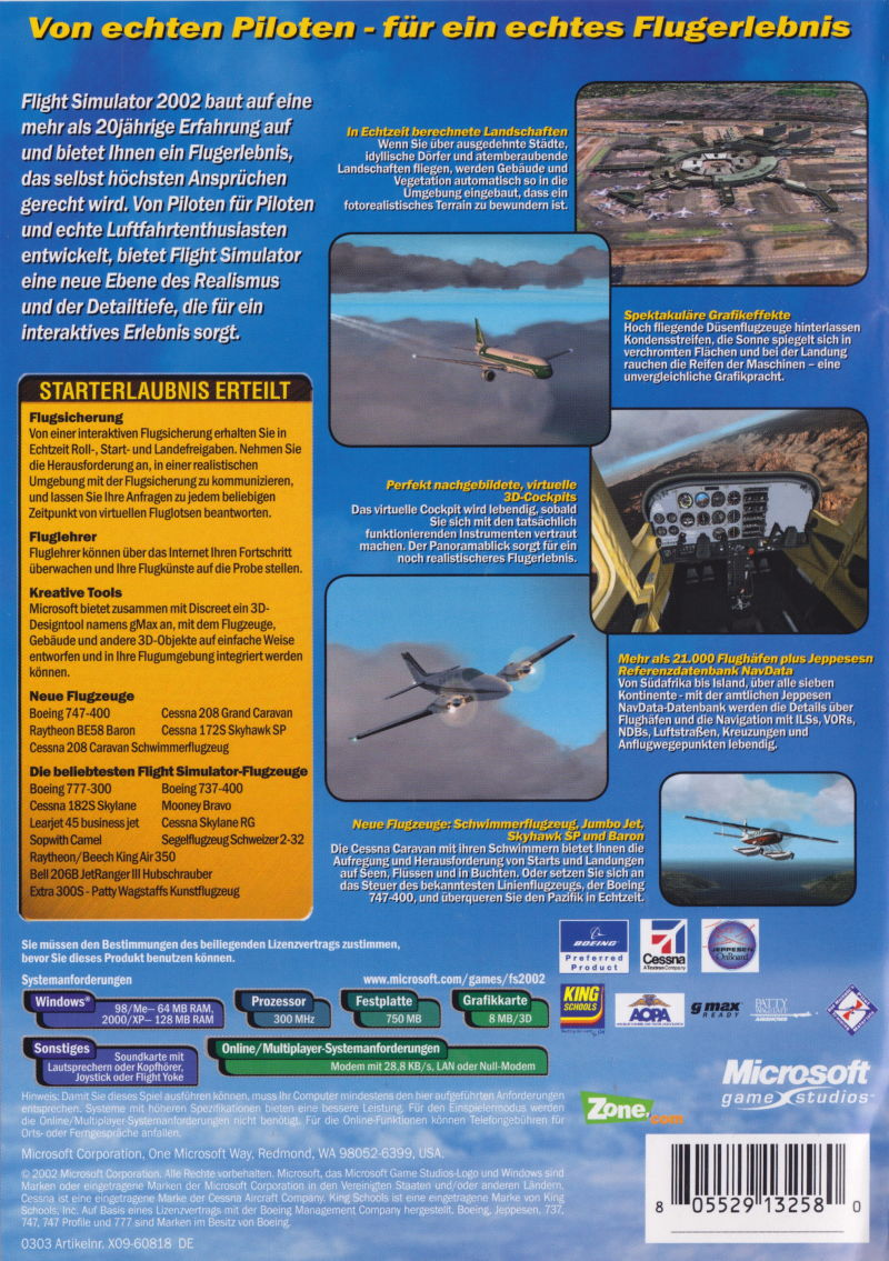 microsoft flight simulator 2002 flugzeuge