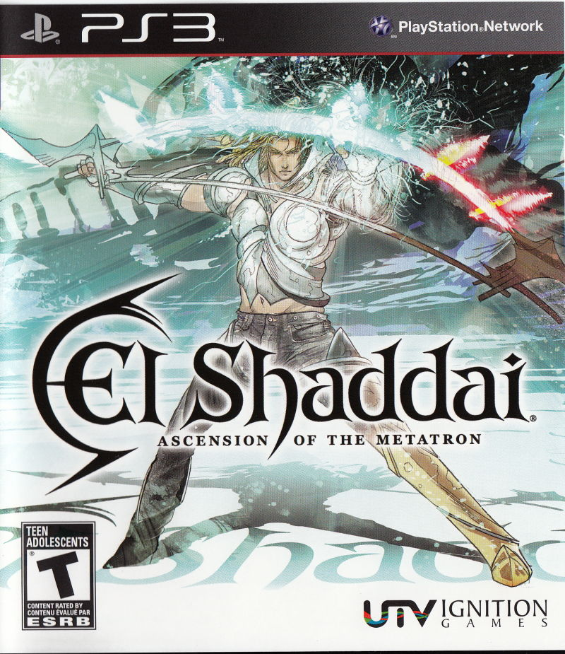 El Shaddai: Ascension of the Metatron PlayStation 3 Front Cover