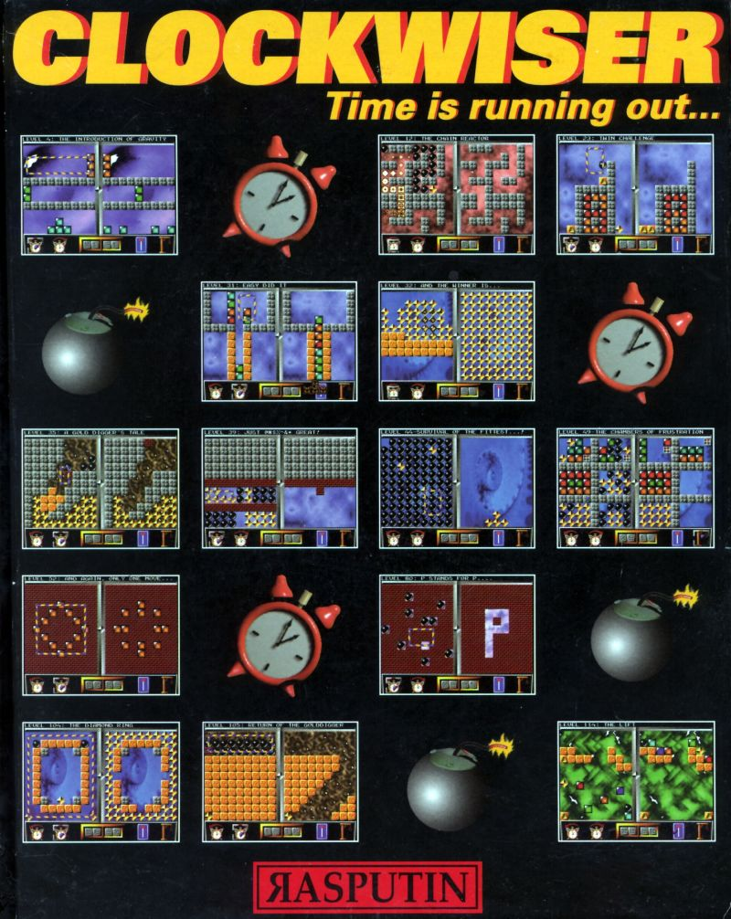 Clockwiser: Time is Running Out... Amiga Front Cover