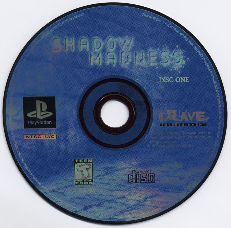 Shadow Madness PlayStation Media Disc 1