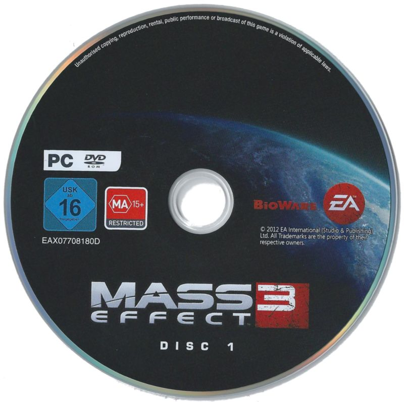 Mass Effect 3 Windows Media Disc 1