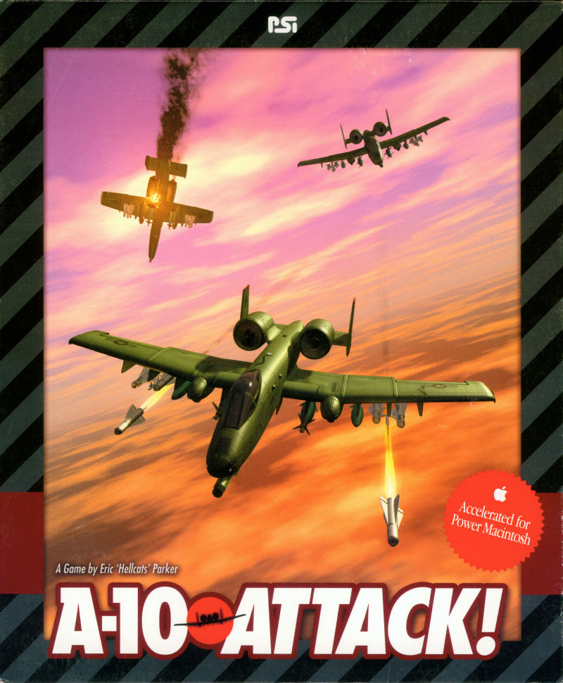 A-10 Attack! Macintosh Front Cover