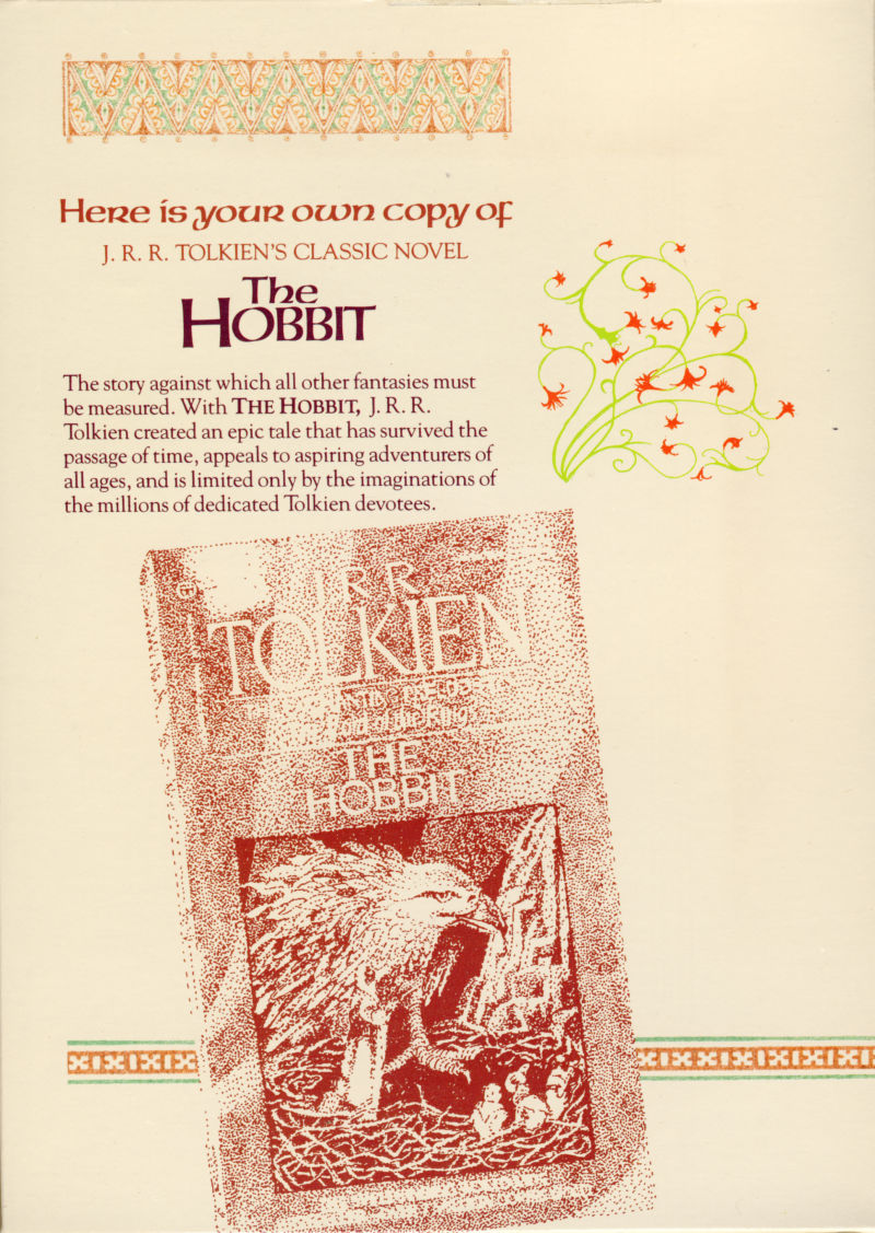 The Hobbit Commodore 64 Inside Cover This is the middle panel