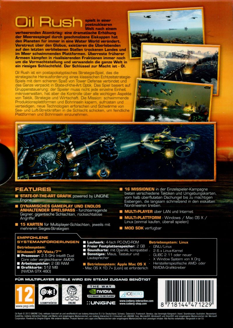 Oil Rush Linux Back Cover