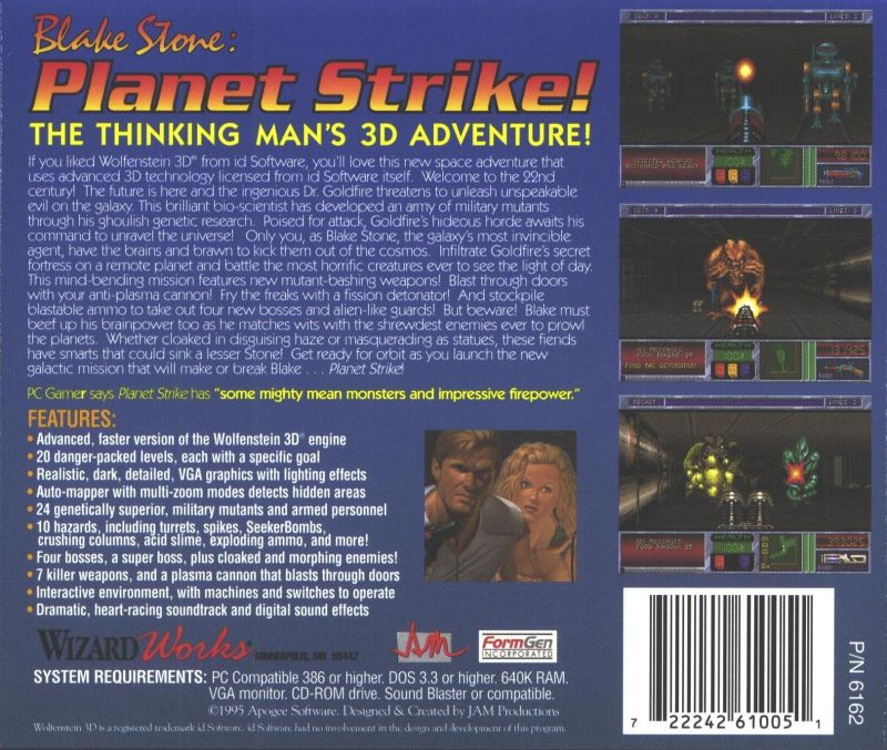 Blake Stone: Planet Strike! DOS Back Cover