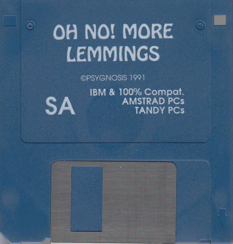 "Oh No! More Lemmings DOS Media 3,5"" Floppy"