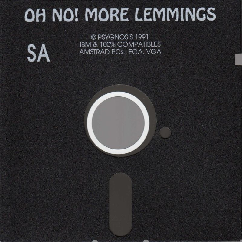 "Oh No! More Lemmings DOS Media 5.25"" Floppy (IBM Version)"