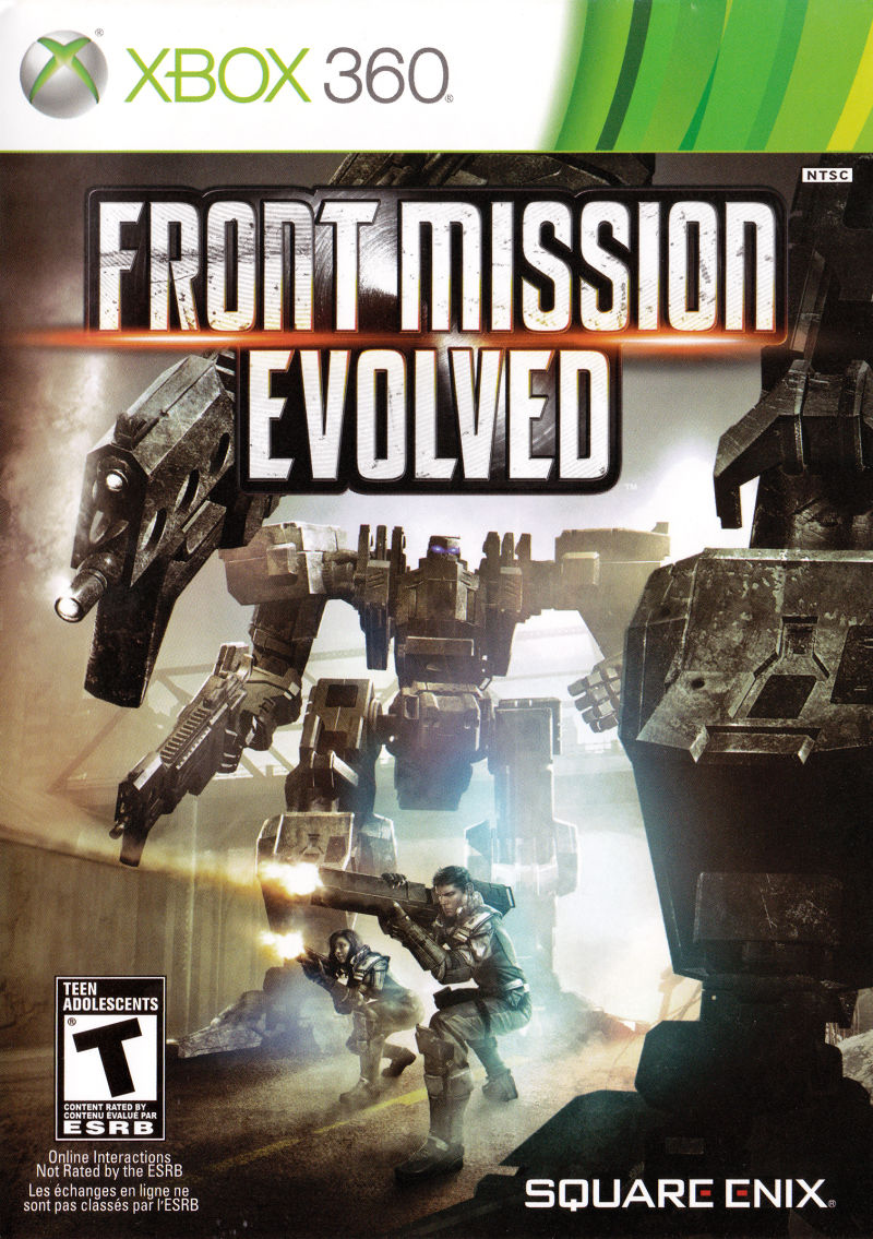 Front Mission Evolved Xbox 360 Front Cover