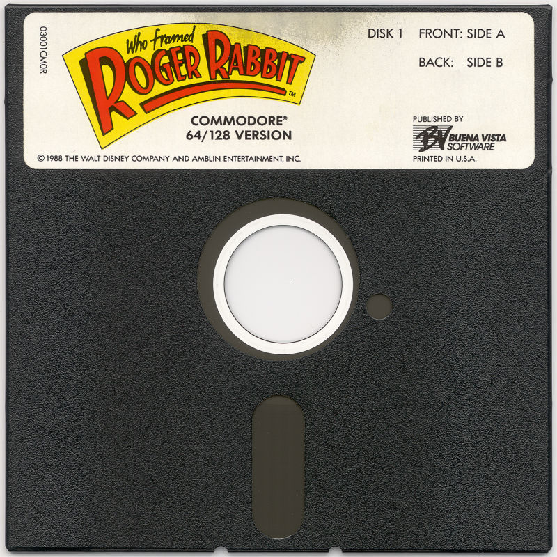 Who Framed Roger Rabbit Commodore 64 Media