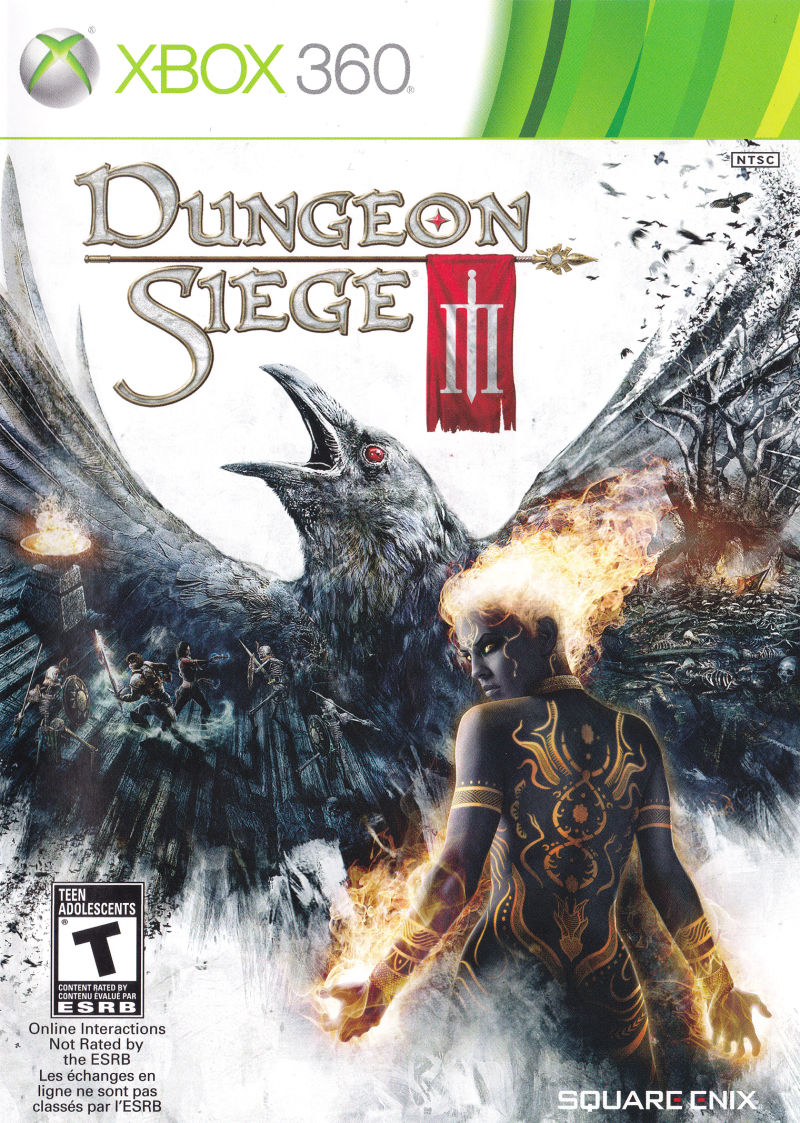 Dungeon Siege III Xbox 360 Front Cover
