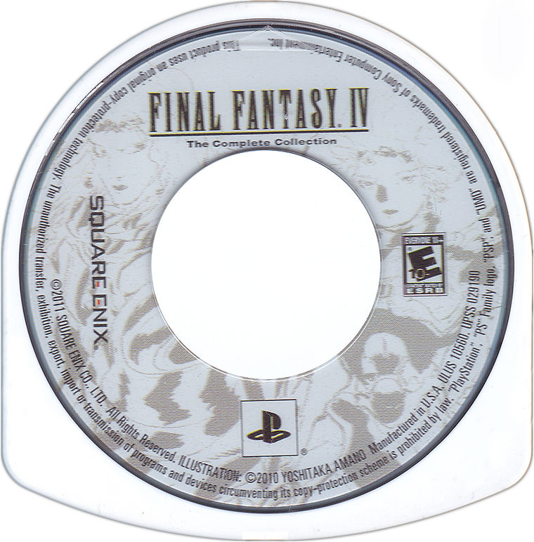 Final Fantasy IV: The Complete Collection PSP Media