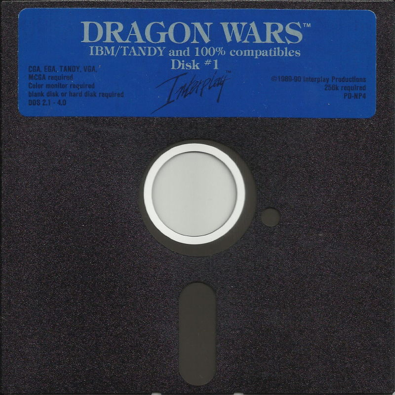 "Dragon Wars DOS Media 5.25"" Disk (1/2)"