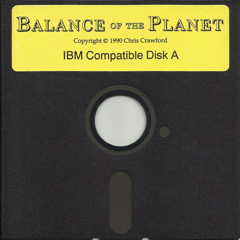 "Balance of the Planet DOS Media 5.25"" Disk (1/3)"