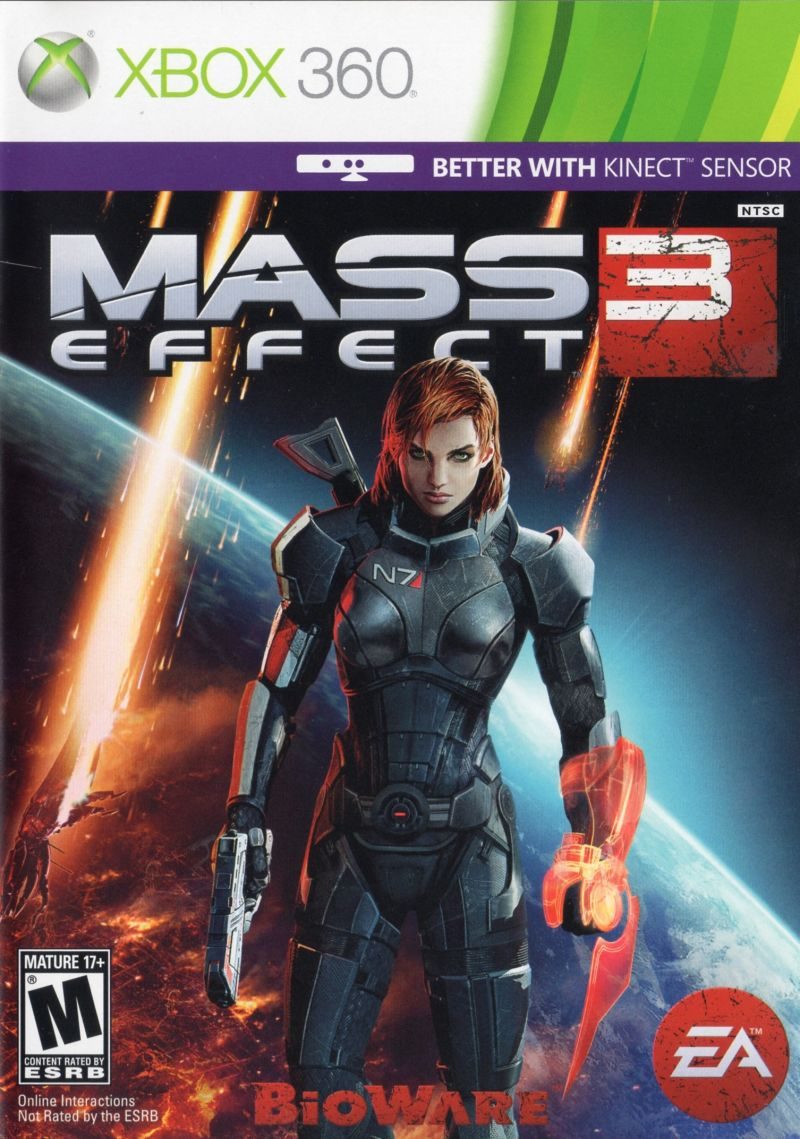 Mass Effect 3 Xbox 360 Inside Cover Alternate front