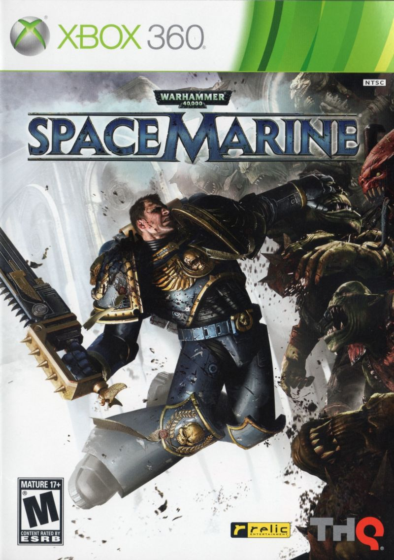 Warhammer 40,000: Space Marine Xbox 360 Front Cover