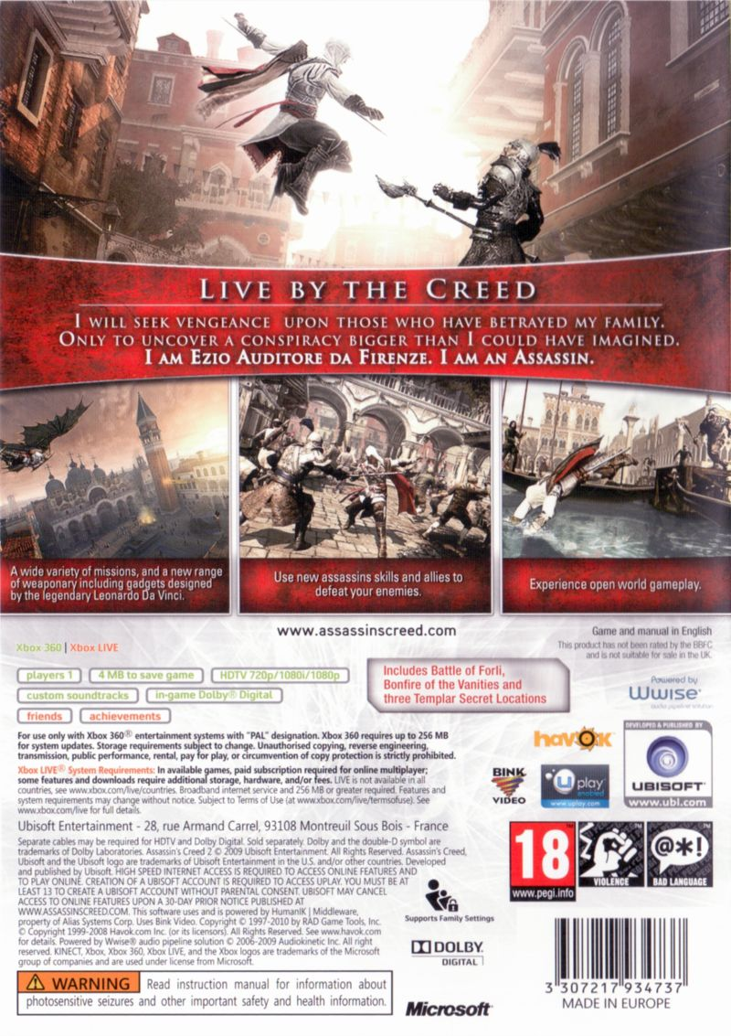 assassin s creed ii game of the year edition 2010 playstation 3 rh mobygames com ps3 game instruction manuals online Carcassonne Board Game Instruction Manual