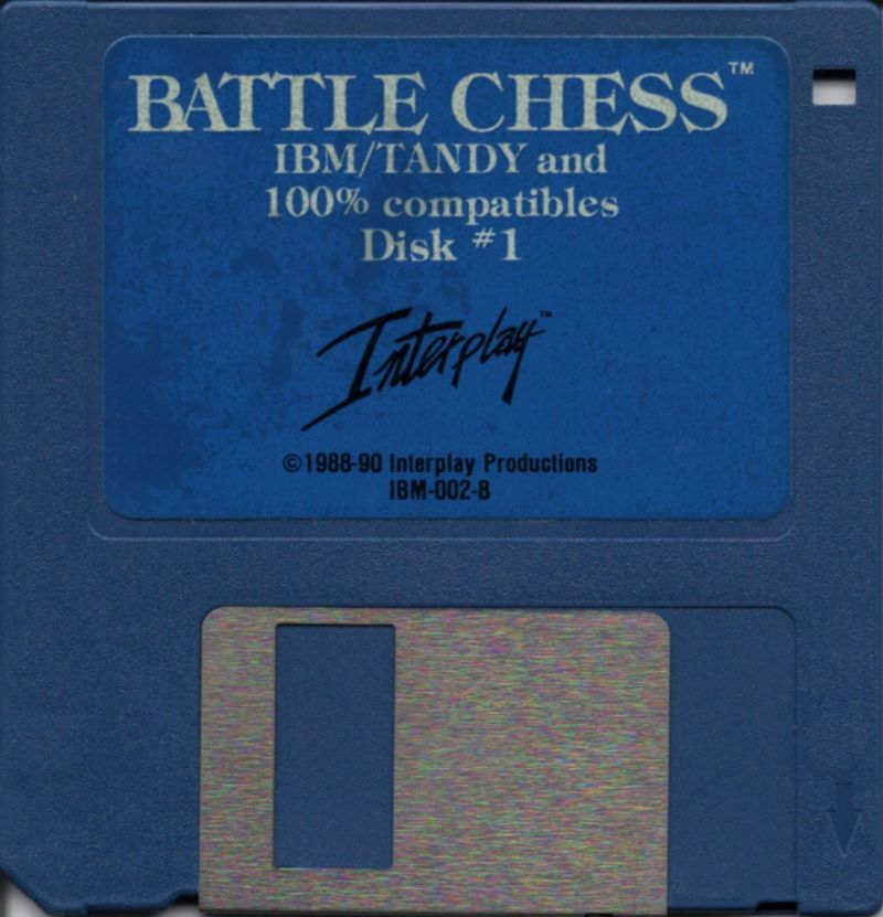 "Battle Chess DOS Media 3.5"" Disk 1/2"