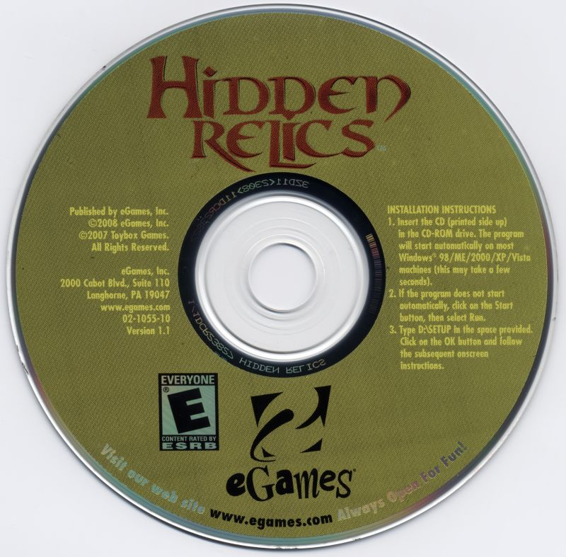 Hidden Relics Windows Media