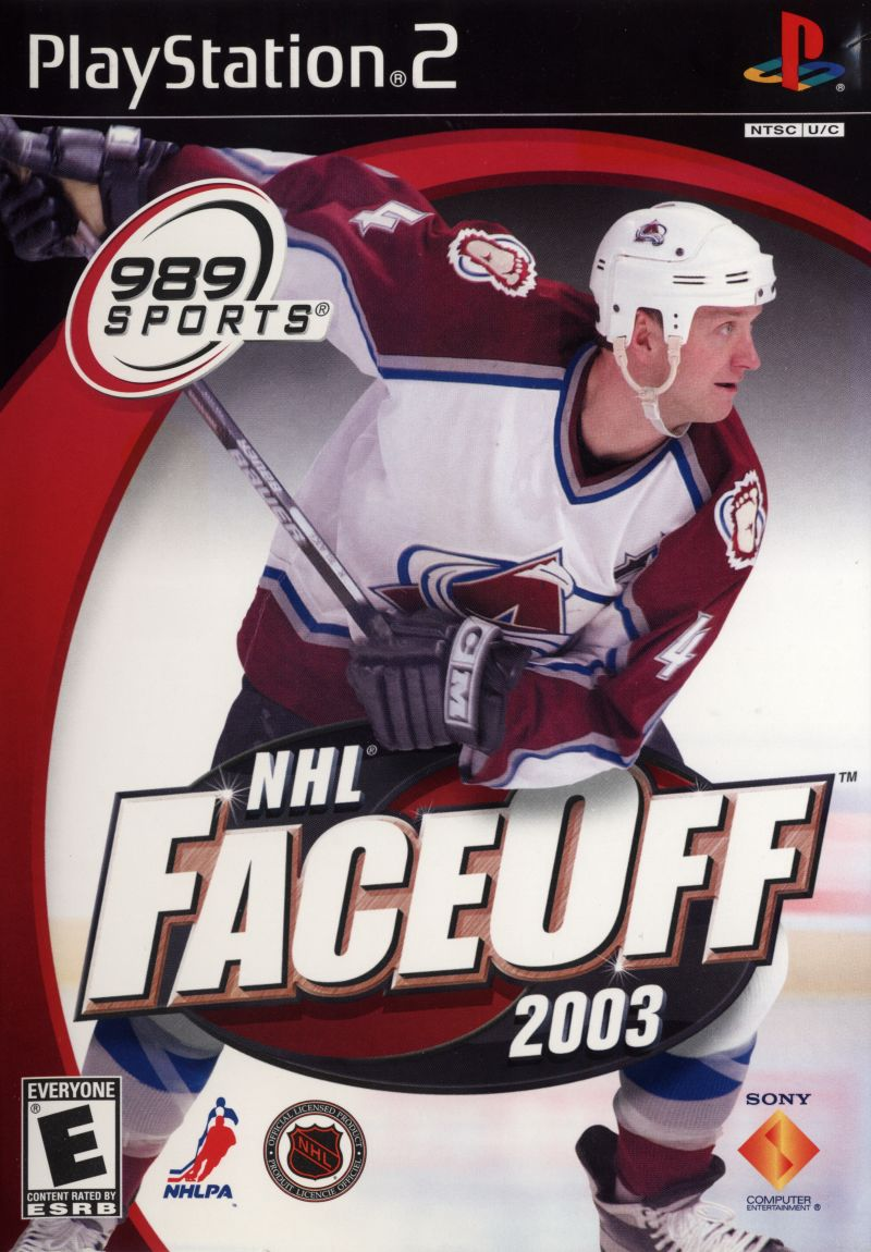 NHL FaceOff 2003 PlayStation 2 Front Cover