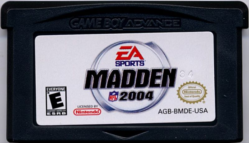 Madden NFL 2004 Game Boy Advance Media
