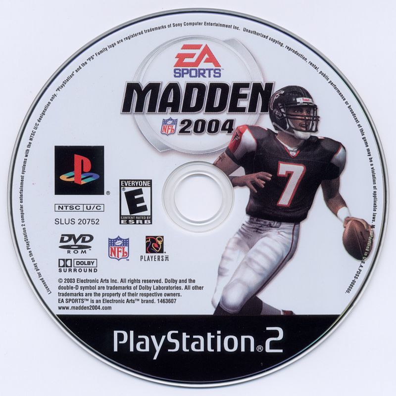 Madden NFL 2004 PlayStation 2 Media