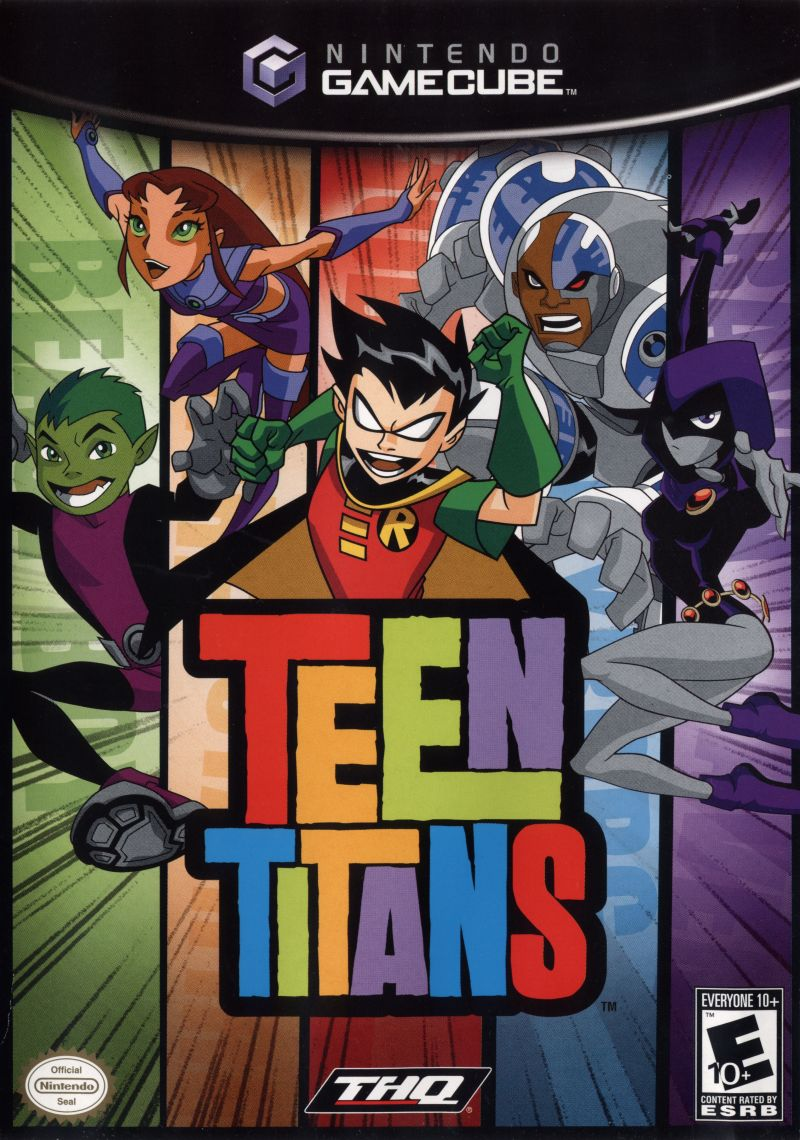 Teen Titans GameCube Front Cover