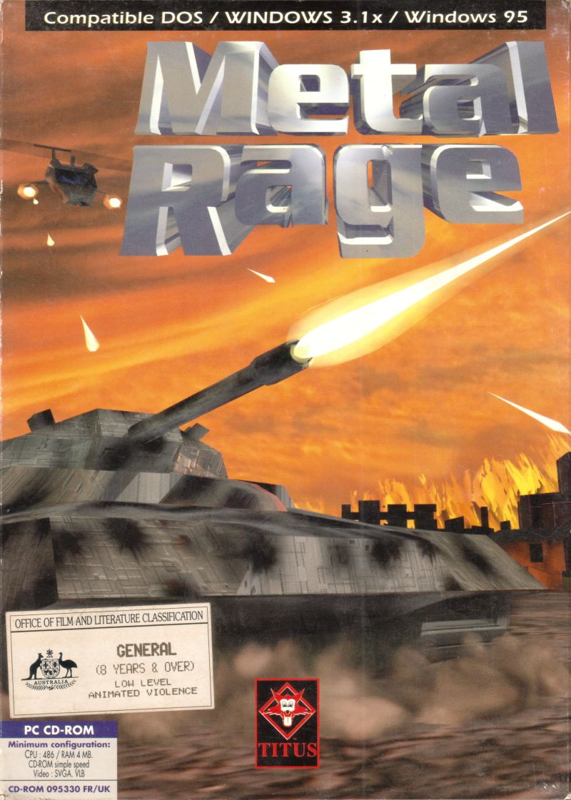 Metal Rage: Defender of the Earth DOS Front Cover