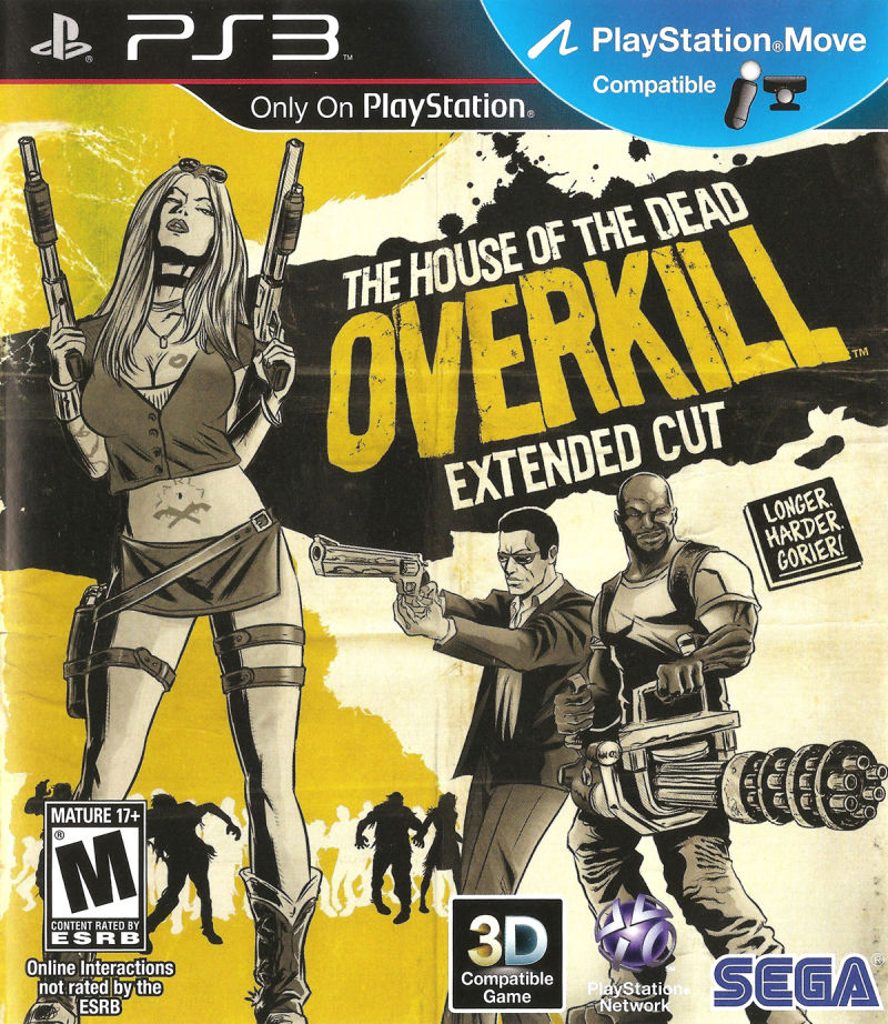 The House of the Dead: Overkill - Extended Cut PlayStation 3 Front Cover