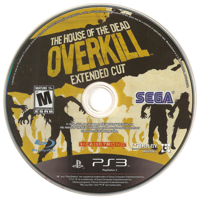 The House of the Dead: Overkill - Extended Cut PlayStation 3 Media