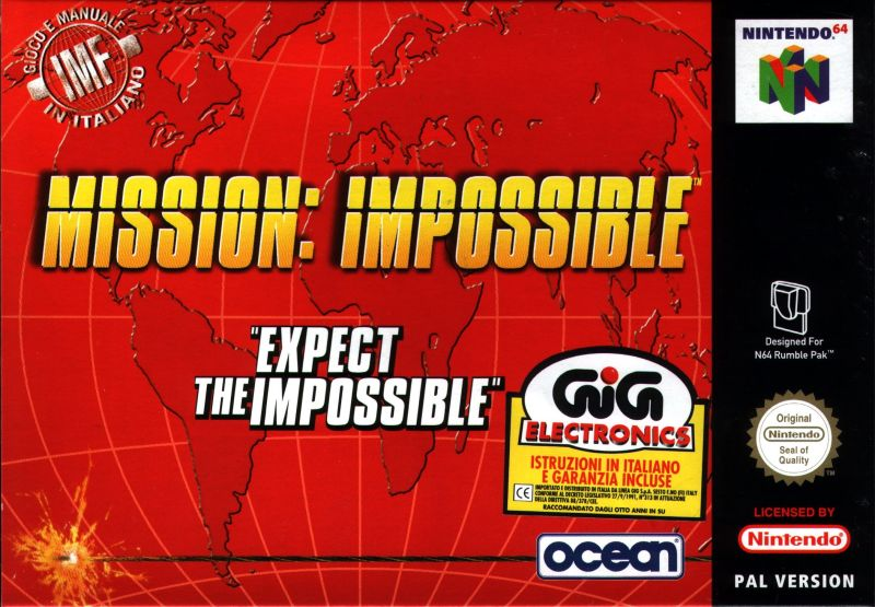 Mission: Impossible Nintendo 64 Front Cover