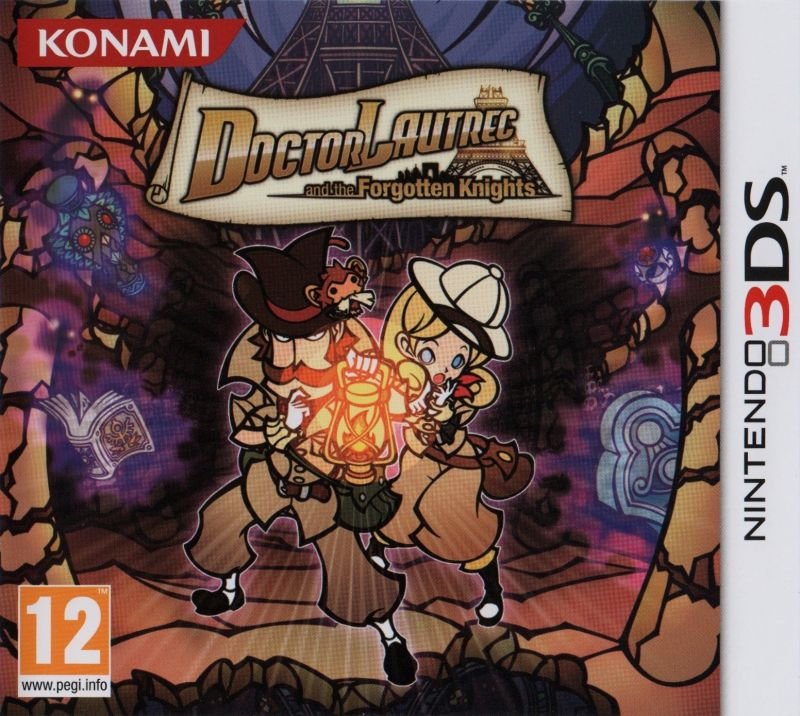 Doctor Lautrec and the Forgotten Knights Nintendo 3DS Front Cover