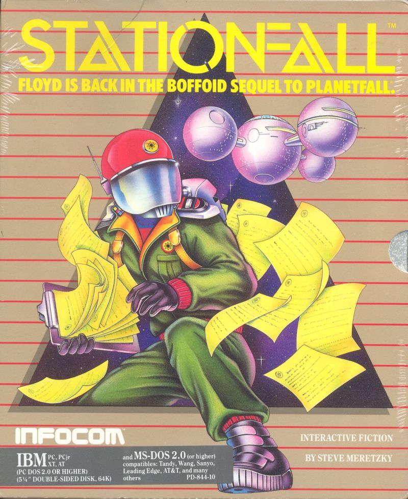 Stationfall DOS Front Cover