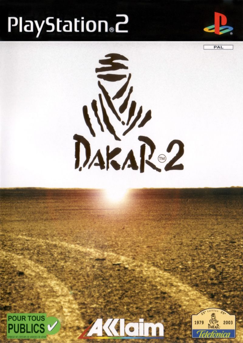 Dakar 2: The World's Ultimate Rally PlayStation 2 Front Cover